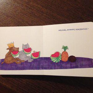 Melone, Ananas, Kokosnuss